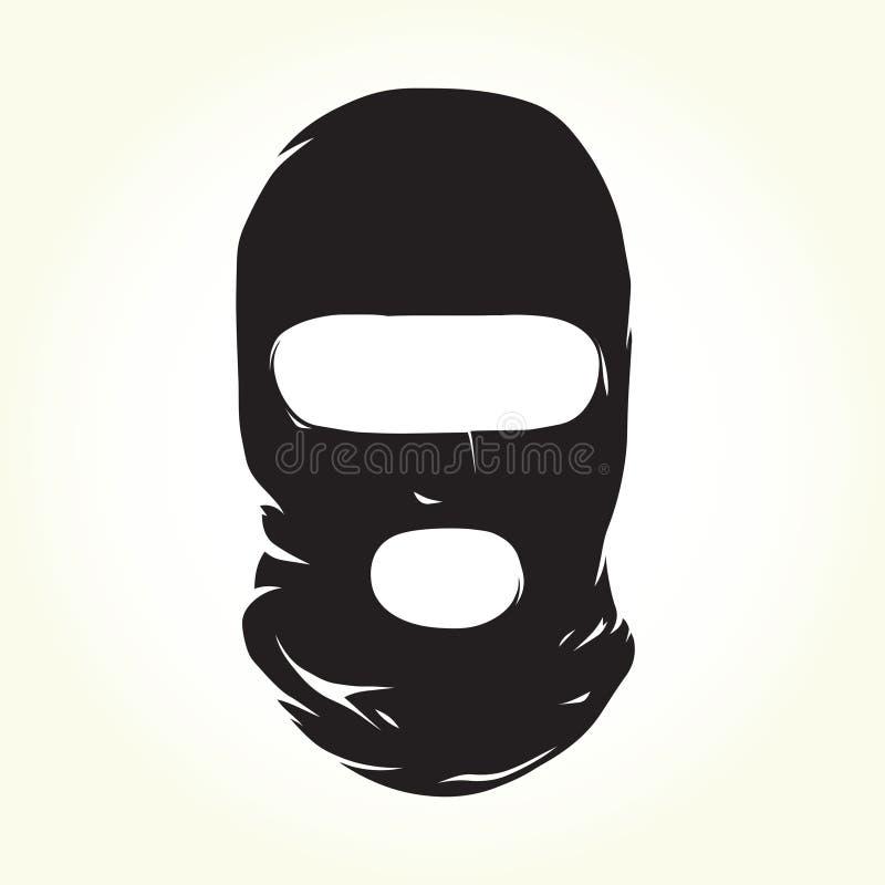 Terrorysta maska ilustracji