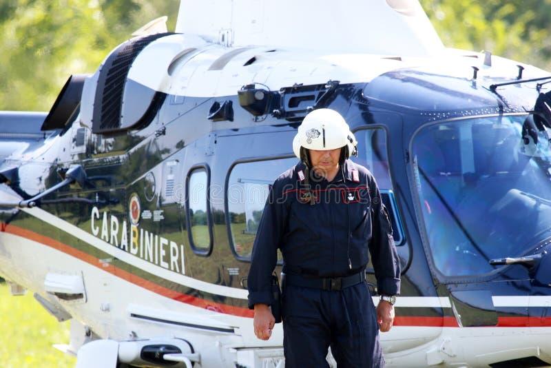 Terroryzm ochrony operacje w Włochy obrazy royalty free