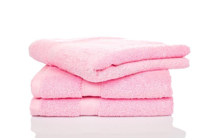 Сложенные полотенца ткани Terry
