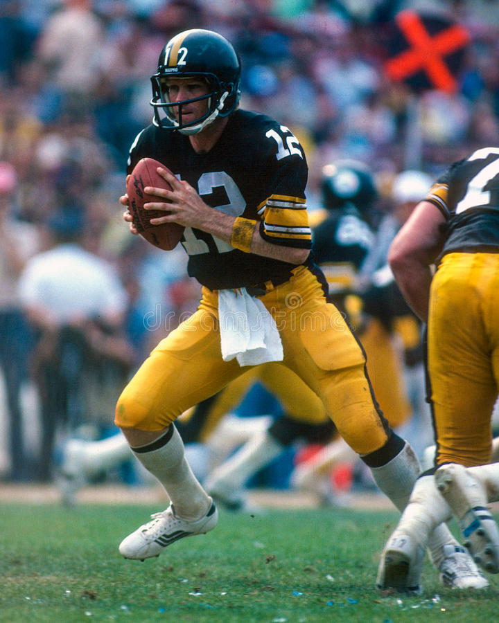 Terry Bradshaw Pittsburgh Steelers imagem de stock royalty free