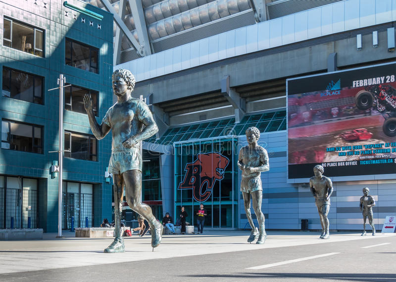 Terry Fox Memorial images libres de droits