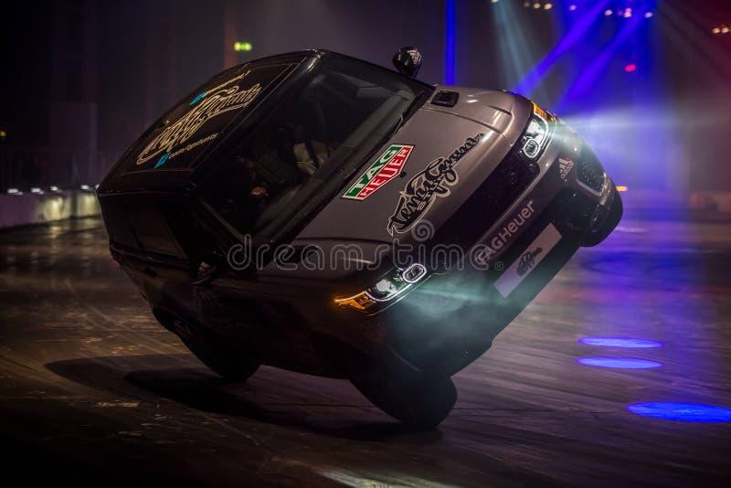Terry Grant Stunt, International 2016 de Autosport fotografia de stock