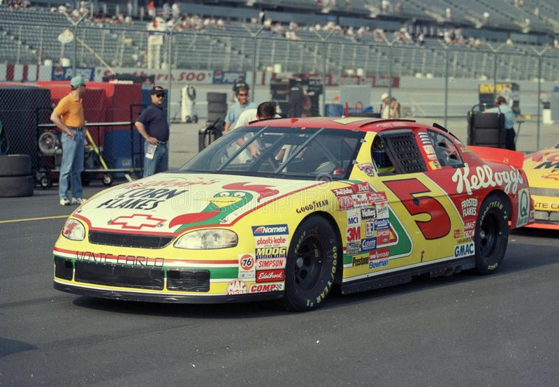 Terry Labonte p? Darlington Raceway arkivbild