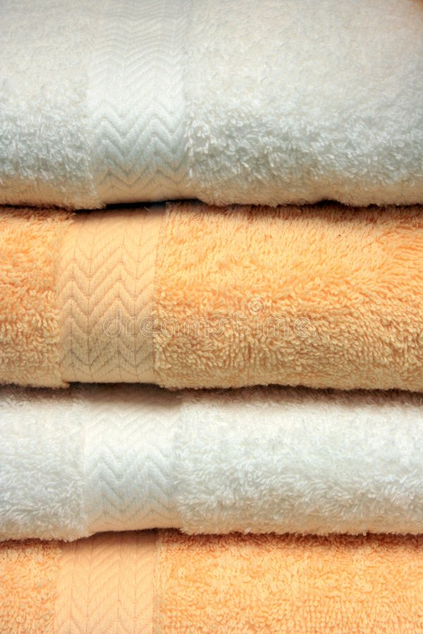Terry sukienni kąpielowych ręczników obraz stock
