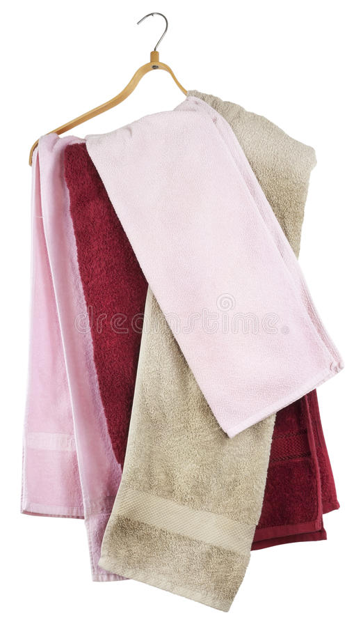 Download Terry Towels Hang On A Hanger Stock Image - Image: 17691575