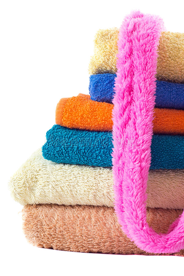 Download Terry Towels On White Royalty Free Stock Images - Image: 20590829