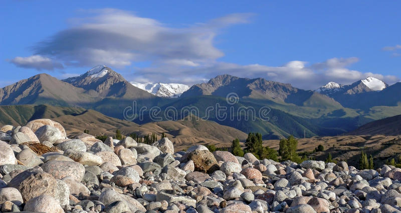 Terskey Alatau mountain range in Tien-Shan stock photos
