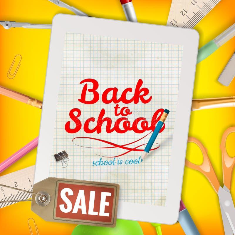 Terug naar de achtergrond van de Schoolverkoop Eps 10 stock illustratie
