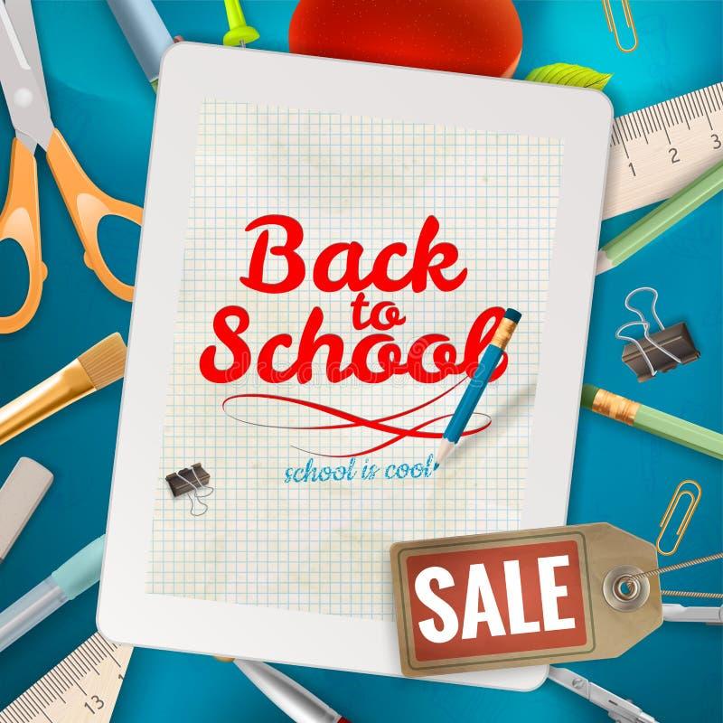 Terug naar de achtergrond van de Schoolverkoop Eps 10 vector illustratie
