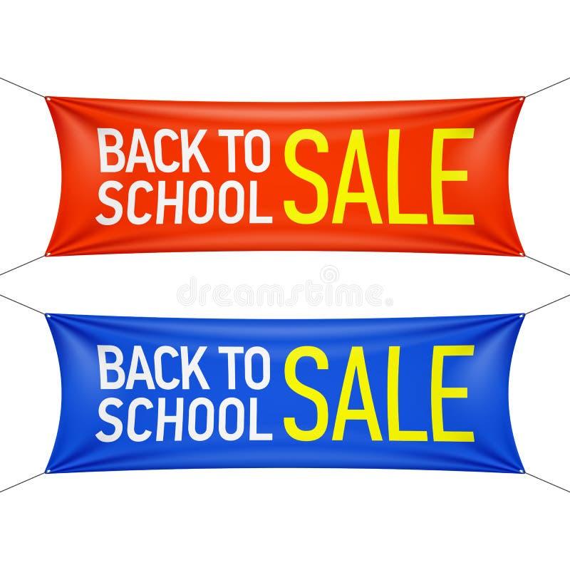 Terug naar de banner van de Schoolverkoop vector illustratie