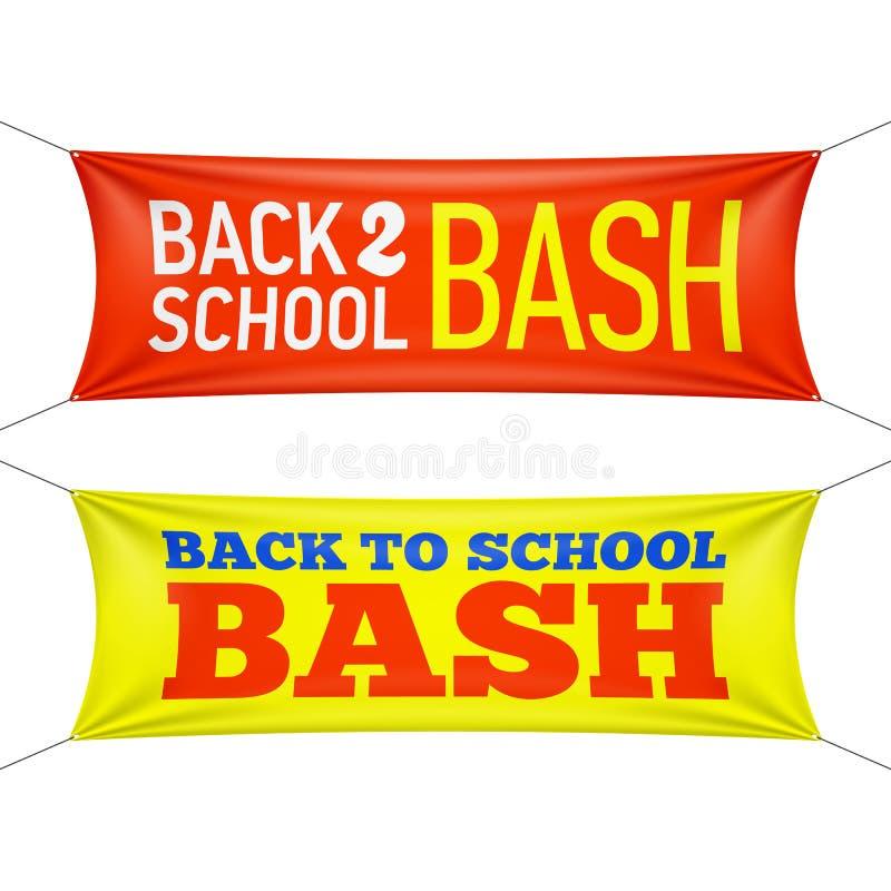 Terug naar de banners van de Schooldreun stock illustratie