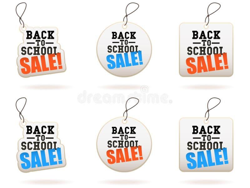 Terug naar de Markeringen van de Verkoop van de School vector illustratie