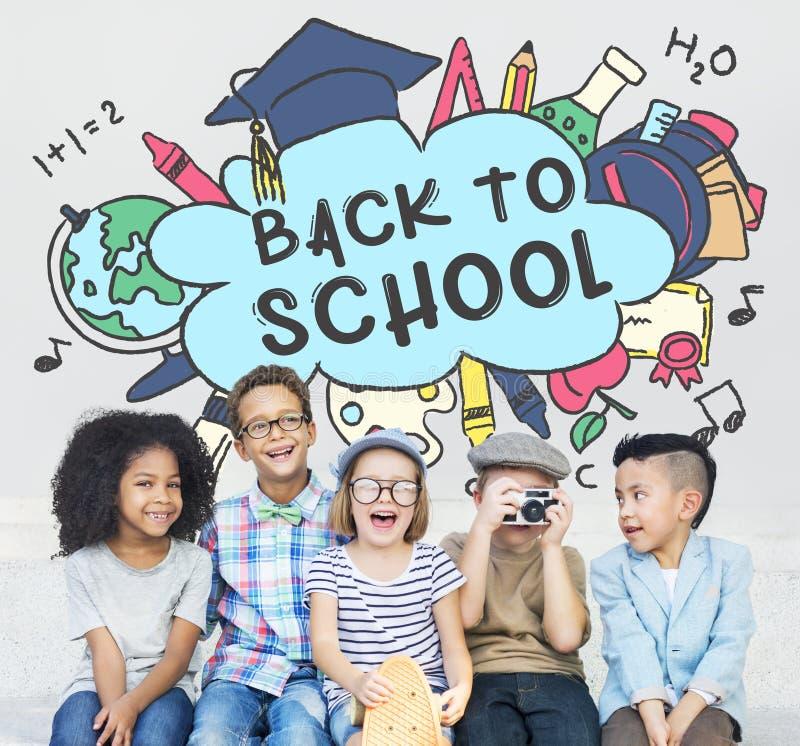 Terug naar het Concept van de de Academicistudie van het Schoolonderwijs royalty-vrije stock foto