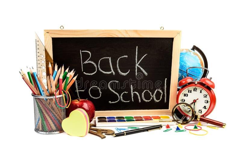 Terug naar het Concept van de School stock afbeeldingen