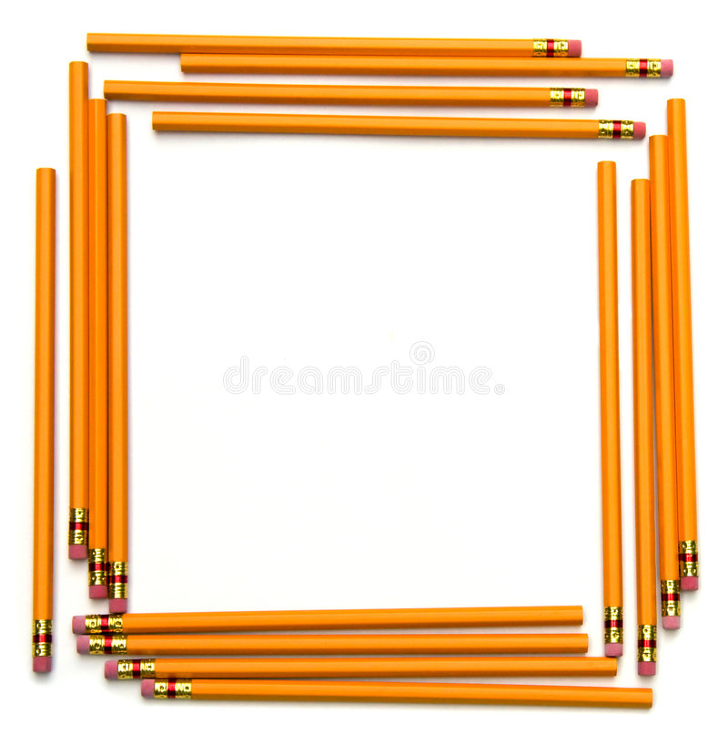 Terug naar het Frame van het Potlood van de School stock afbeeldingen