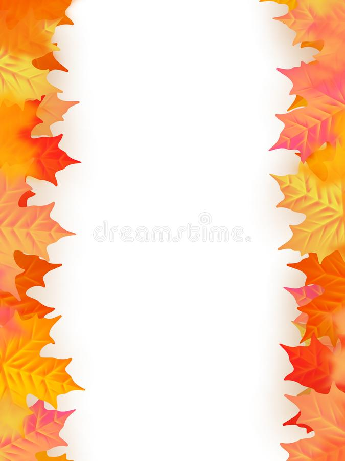 Terug naar het Malplaatje van de School De herfstachtergrond met bladeren Eps 10 stock illustratie