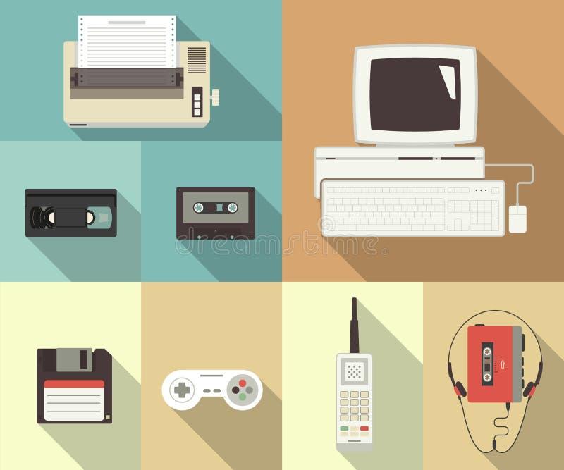Terug naar jaren '90 vector illustratie