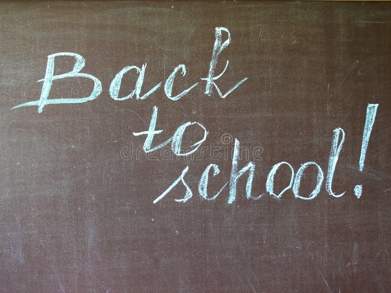 Terug naar school stock foto