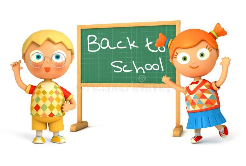 Terug naar School stock illustratie
