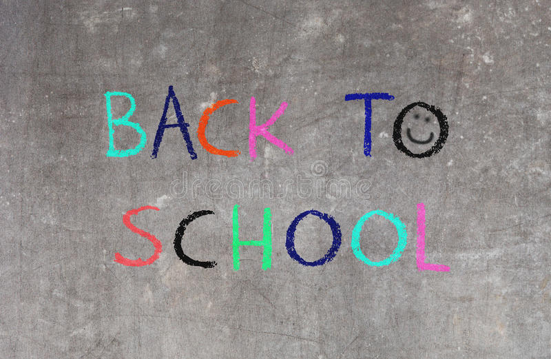 Terug naar school, bord stock afbeeldingen