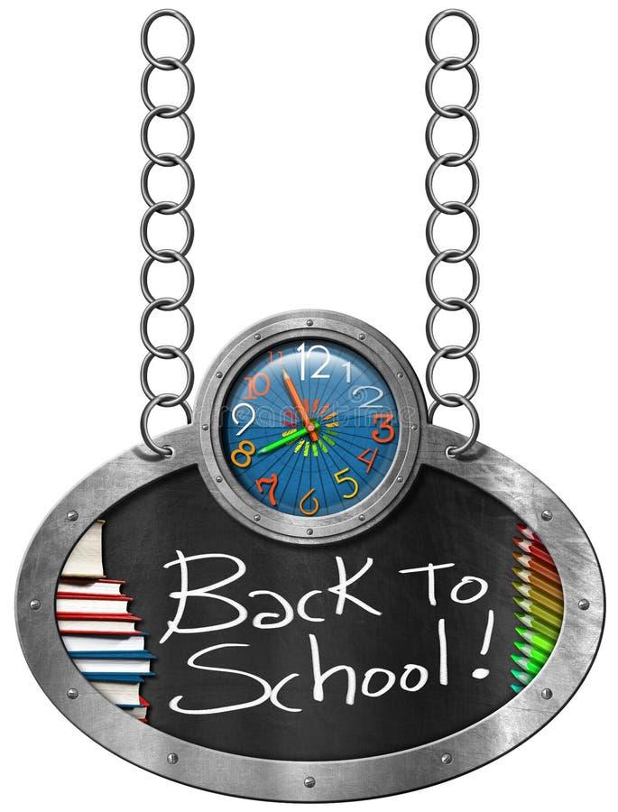 Download Terug Naar School - Bord Met Ketting Stock Illustratie - Illustratie bestaande uit bord, notulen: 54087754
