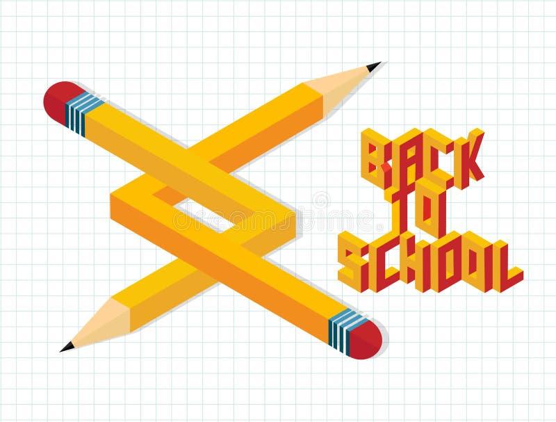 Terug naar school creatieve illustratie stock illustratie
