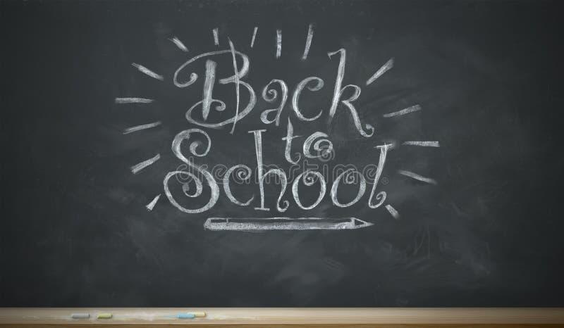 Terug naar School het Capricieuze Krijt Van letters voorzien stock illustratie