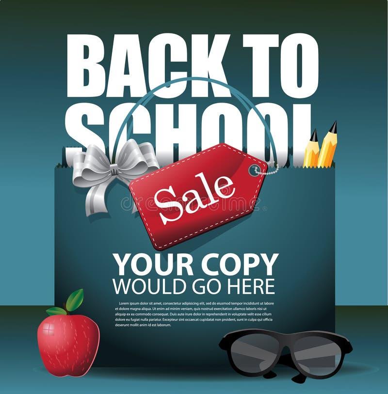 Terug naar School marketing achtergrond royalty-vrije illustratie