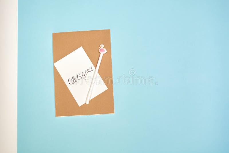Terug naar school, schoollevering, blauw en roze royalty-vrije stock foto's