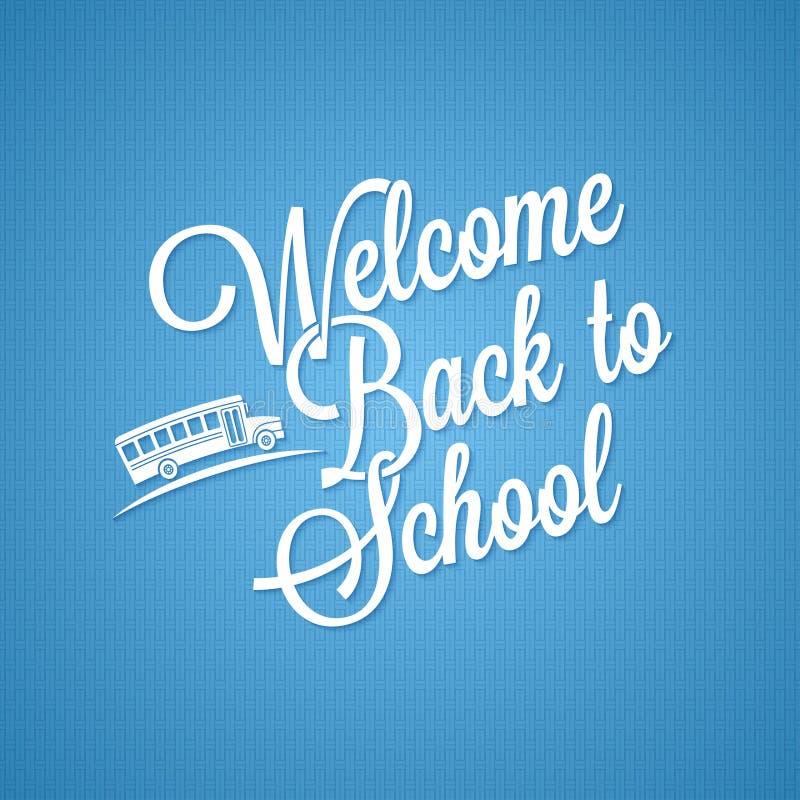 Terug naar school uitstekende van letters voorziende achtergrond stock illustratie
