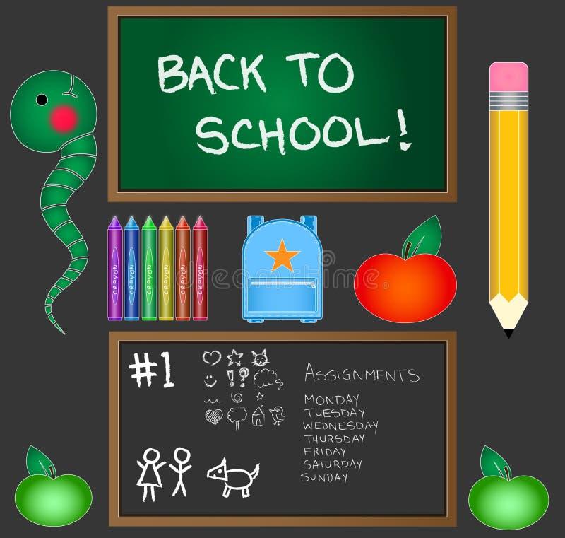 Terug naar School Vectorpak stock illustratie
