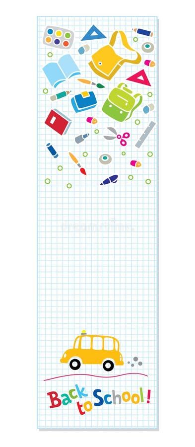 Terug naar School Verticale banner of referentie vector illustratie