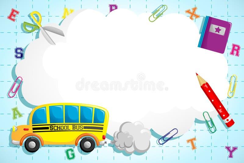 Terug naar schoolachtergrond vector illustratie