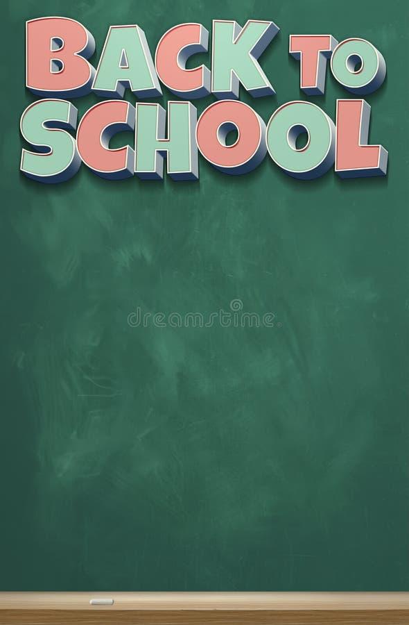 Terug naar Schoolbeeld Acht royalty-vrije illustratie