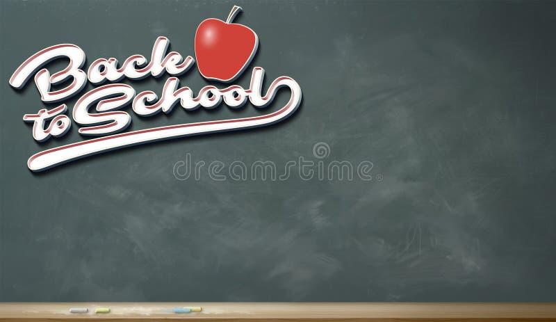 Terug naar Schoolbeeld Drie vector illustratie