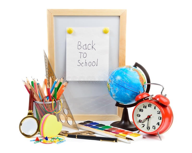Terug naar schoollevering stock fotografie