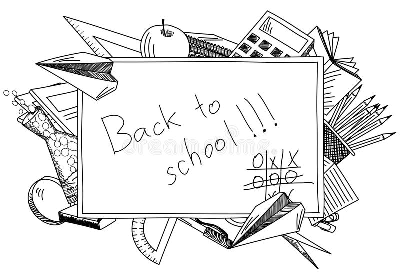 Terug naar schoolthema stock illustratie