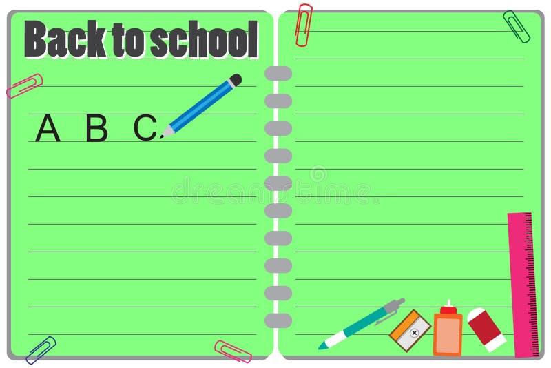 Terug naar schoolvector vector illustratie