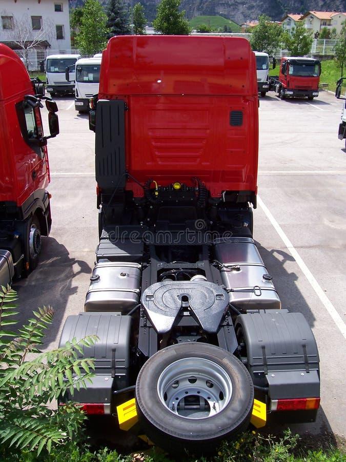Terug van een vrachtwagen stock foto