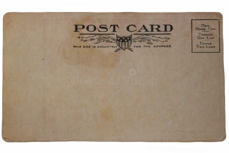 Terug van Oude Prentbriefkaar royalty-vrije stock afbeeldingen