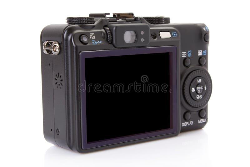 Terug van zwarte digitale compacte camera stock afbeelding