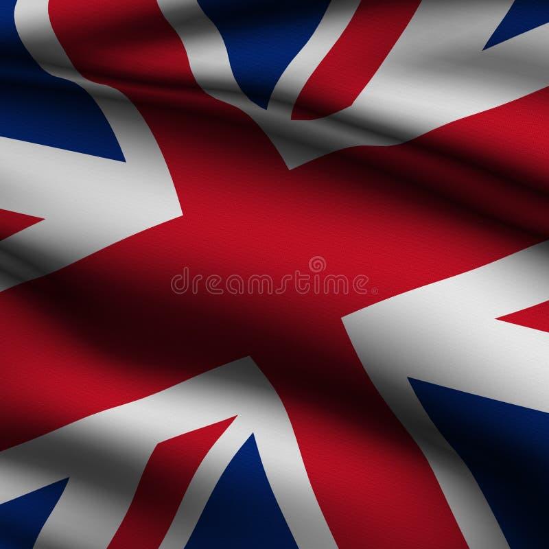 Teruggegeven Britse Vierkante Vlag stock illustratie
