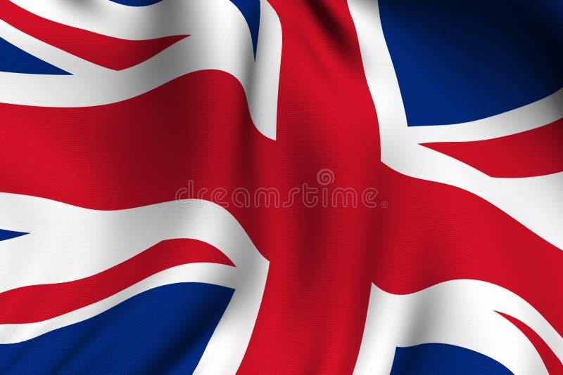 Teruggegeven Britse Vlag royalty-vrije illustratie