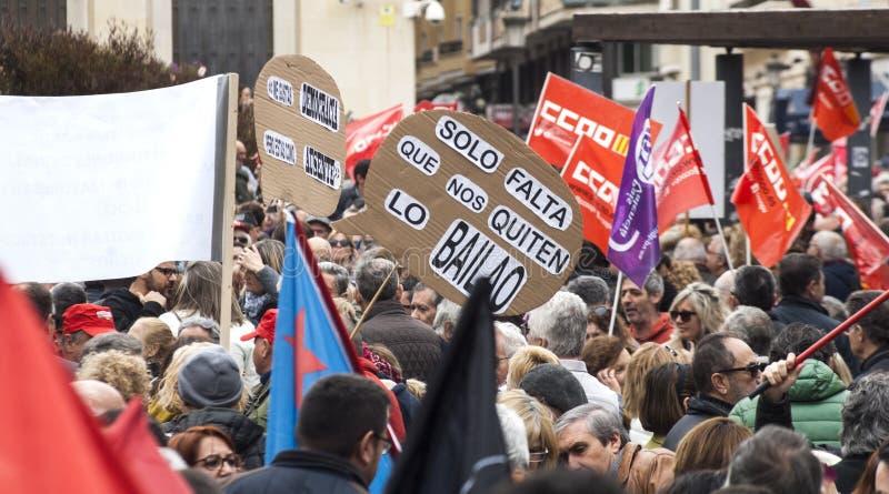 teruggetrokken protest in Alicante royalty-vrije stock fotografie