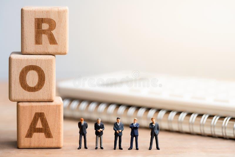 Terugkeer op Activa ROA stock foto's