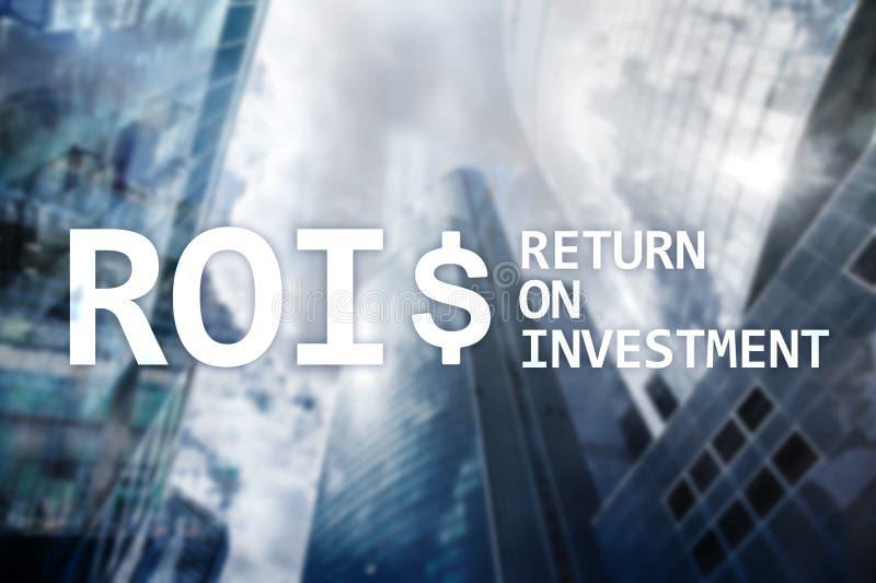 Terugkeer op Investerings Financieel Beheer Opbrengstconcept Virtuele het schermachtergrond royalty-vrije illustratie