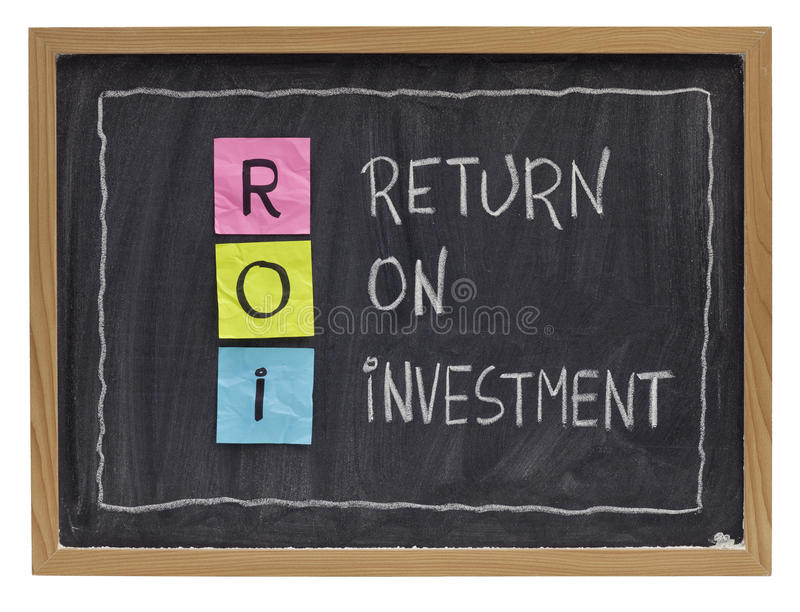 Terugkeer op investeringsconcept