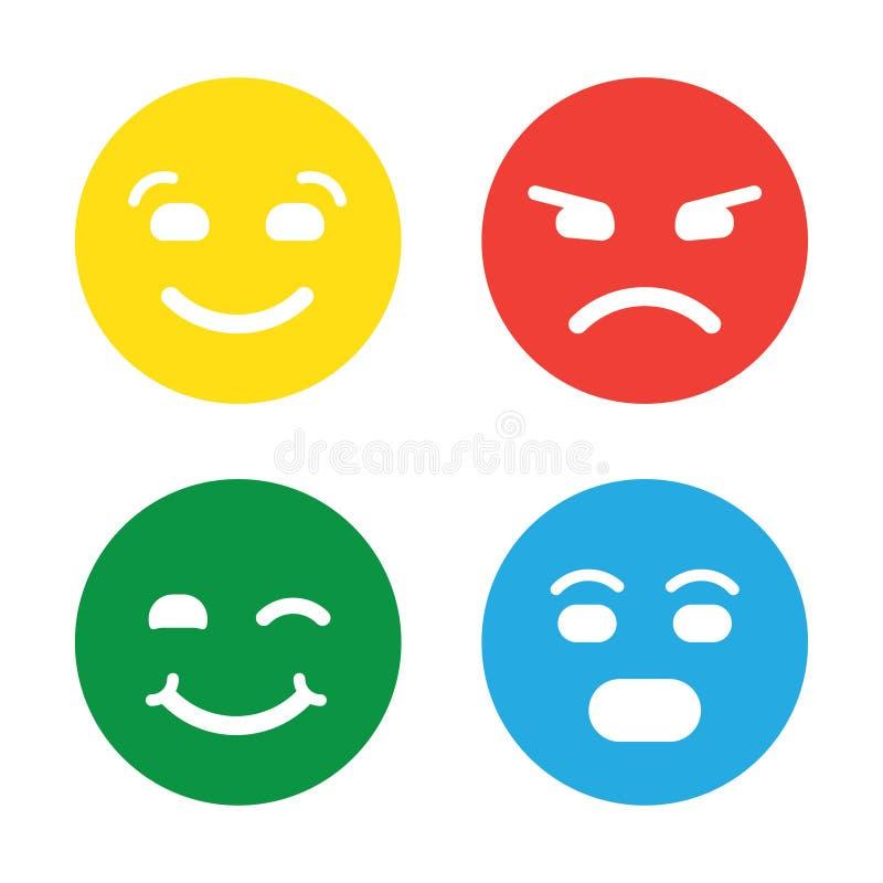 Terugkoppeling in vorm van emoties, smileys, emoji vector illustratie
