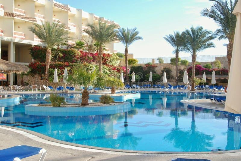 Terytorium Hilton rekinów Podpalany hotel zdjęcia stock