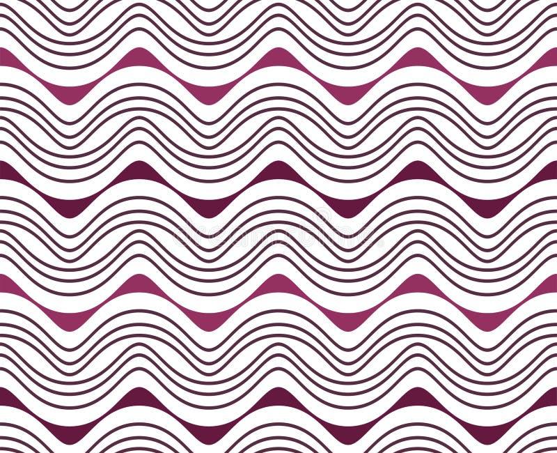 Terza linea porpora bianca modello senza cuciture verticale di Walia Wave fotografie stock